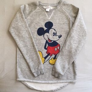 Vintage Look Mickey Mouse Raglan Sweatshirt